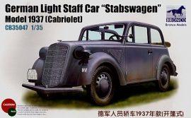 Bronco 1937 Opel Light Staff 'Stabswagen' Cabriole