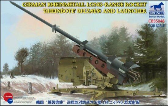 "Bronco German Rheinmetall Long-Range Rocket ""Rheinbote"" (Rh.Z.61/9) makett"