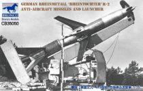 "Bronco German Rheinmetall ""Rheintochter"" R-2 anti-aircraft missiles and launcher makett"