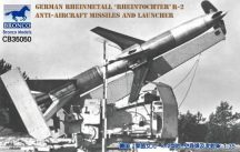 "Bronco German Rheinmetall ""Rheintochter"" R-2 anti-aircraft missiles and launcher"