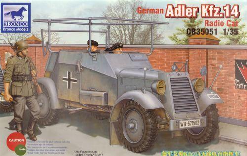 Bronco German Adler Kfz.14 Radio Armoured Car makett