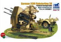 Bronco German 20mm Flakvierling 38 with trailer makett