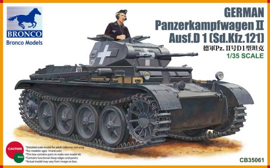 Bronco Pz.Kpfw.II Ausf.D1 makett