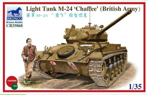 Bronco M24 Chaffee Light Tank makett