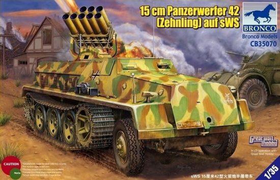 Bronco 15cm Panzerwerfer 42 (Zehnling) auf sWS makett