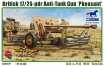 Bronco British 17/25 pdr Anti-Tank Gun 'PHEASANT' makett
