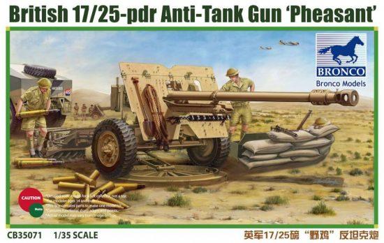 Bronco British 17/25 pdr Anti-Tank Gun 'PHEASANT' makett