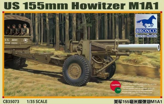 Bronco M1A1 155mm US Howitzer makett