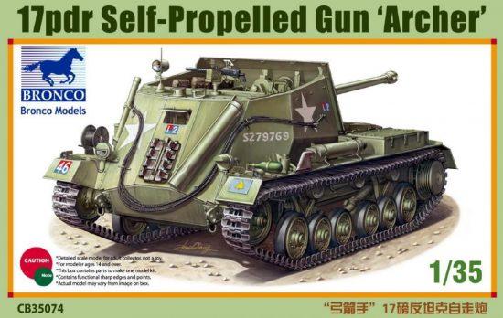 Bronco 17pdr Self-Propelled Gun 'Archer' makett