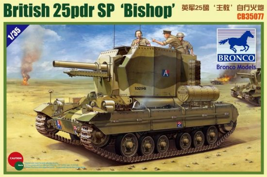 Bronco British 25 Pdr SP 'Bishop' makett