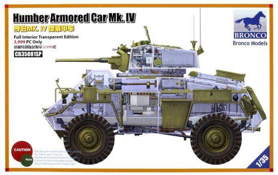 Bronco British Humber Armored Car Mk.IV makett