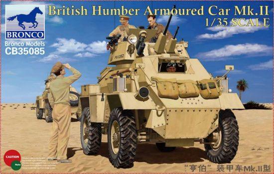 Bronco British Humber Armoured Car Mk.II makett