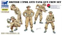 Bronco British 17pdr Anti-Tank Gun Crew set