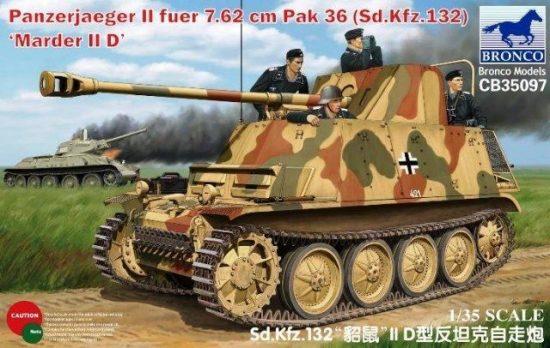 Bronco Panzerjaeger II fuer 7.62cm PaK-36 (Sd.Kfz.132) Marder IID makett