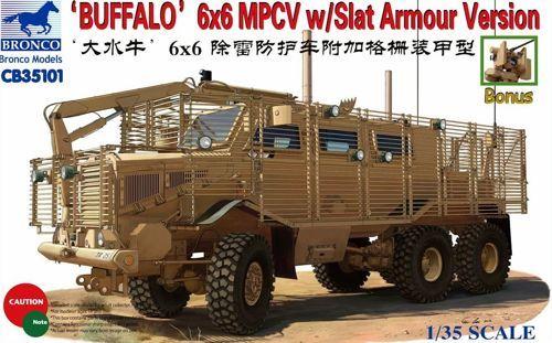 Bronco Buffalo 6x6 MPCV Slat Armour Version makett