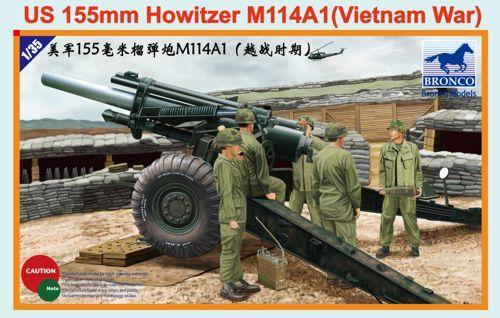 Bronco U.S. 155mm Howitzer M114A1 (Vietnam War) makett