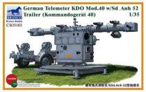 Bronco German Telemeter KDO Mod.40 w/Sd.Anh 52 Trailer makett