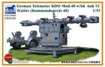 Bronco German Telemeter KDO Mod.40 w/Sd.Anh 52 Trailer