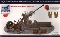 Bronco OQF 40mm Bofors Anti-Aircraft Gun Mk.I/III makett