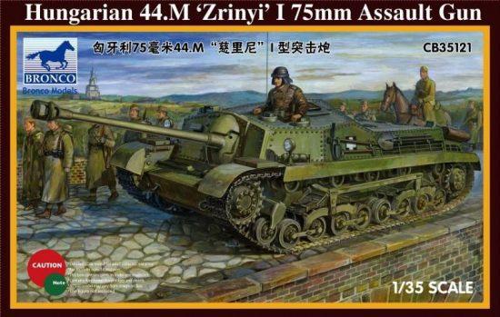 Bronco Hungarian 44M Zrinyi I 75mm Assault Gun makett