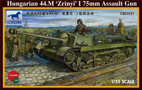 Bronco Hungarian 44M Zrinyi I 75mm Assault Gun makett