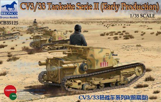 Bronco CV3/33 Tankette Serie II (Early Production) makett
