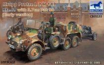 Bronco Krupp-Protze Kfz.69 L2 H143 with 3.7cm Pak 36 (Early) makett