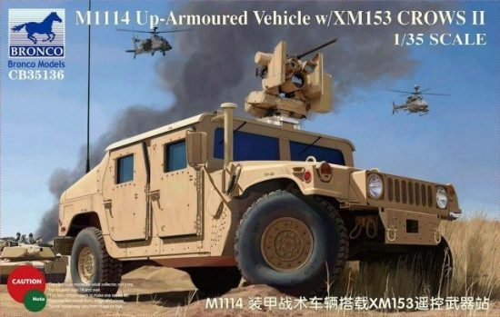 Bronco M1114 Up-Armoured Vehicle w/XM153 CROWS II makett