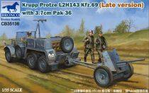 Bronco Krupp Protze L 2 H 143 Kfz.69 (Late) +3.7cm Pak 36 makett