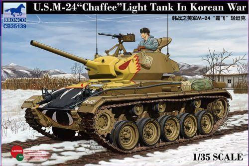 Bronco US M-24 Chaffee Light Tank in Korean War makett