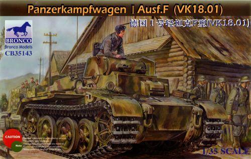 Bronco Pz.Kpfw.I Ausf.F (VK18.01) makett