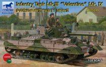 Bronco Valentine Mk.IX Infantry Tank Mk.III makett