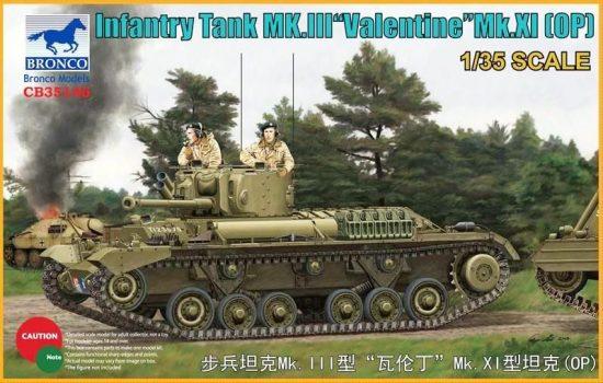 Bronco Valentine Mk.III Mk.XI OP Infantry Tank makett