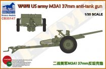 Bronco US army M3A1 37mm anti-tank gun makett