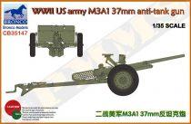 Bronco US army M3A1 37mm anti-tank gun makett