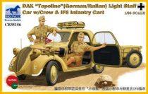 "Bronco DAK ""Topolino"" (German/Italian) Light Staff Car with Crew makett"