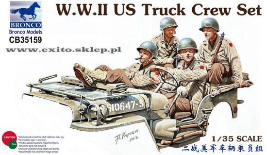 Bronco WWII US Truck Crew Set