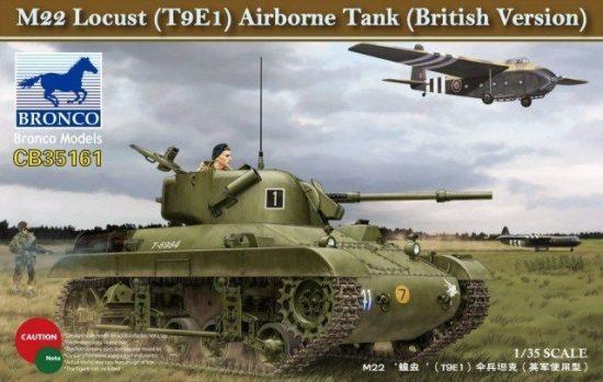 Bronco M22 Locust (T9E1) Airborne Tank makett