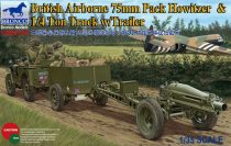 Bronco 75mm Pack Howitzer and 1/4 ton Truck with Trailer makett