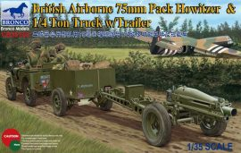 Bronco 75mm Pack Howitzer and 1/4 ton Truck with Trailer