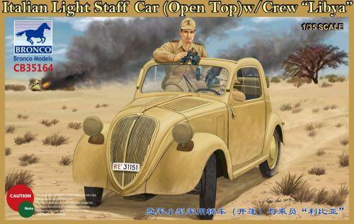"Bronco Italian Light Staff Car (Open Top) with Crew ""Libya"""
