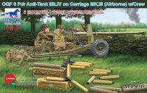 Bronco OQF 6 Pdr Anti-Tank Gun Mk.IV on Carriage Mk.III makett