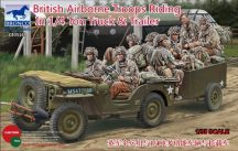 Bronco British Airborne Troops Riding in 1/4 ton Truck and Trailer