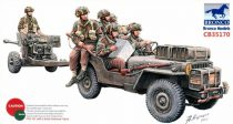 Bronco 6pdr Anti-Tank Gun (Airborne) With 1/4Ton Truck & Crew makett