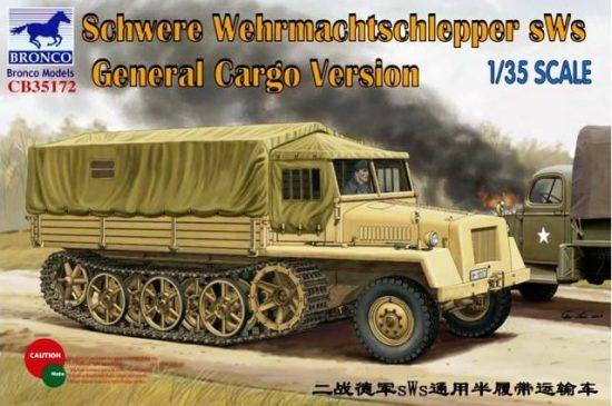 Bronco Schwere Wehrmachtschlepper sWs General Cargo makett