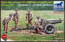 Bronco 75mm Pack Howitzer M1A1 & Gun Crew makett
