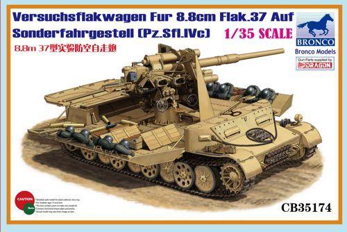 Bronco Versuchsflakwagen 8.8cm Flak 37 auf Sonderfahrgestell (Pz.Sfl.IVc)