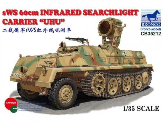 "Bronco sWS 60cm Infrared Searchlight Carrier ""UHU"" makett"