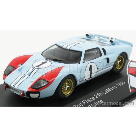 CMR FORD GT40 MKII 7.0L V8 TEAM SHELBY AMERICAN INC. N 1 2nd (BUT REALLY WINNER) 24h LE MANS 1966 K.MILES - D.HULME