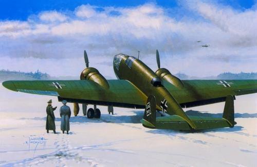 Mistercraft PZL P-37A Los I Luftwaffe makett